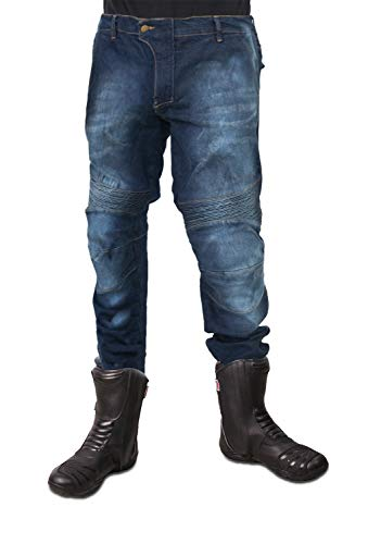 KEN ROD Pantaloni Jeans Moto Uomo | Pantaloni Moto Uomo | Pantaloni da Motociclista | Jeans Uomo Moto Biker | Jeans Uomo Moto con Protezioni | Pantaloni Moto Biker Rinforzato