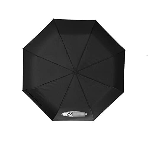 BLJS Winddichter automatischer klappbarer Regenschirm, Frauen-Mann-Regenschirm mit Auto-Logo, Luxus-Großgeschäftsschirme Männer-Regen-Frauen-Geschenk-Sonnenschirm,Ford