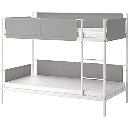 Amazon Com Ikea Vitval Bunk Bed Frame White Light Gray Twin 704 112 77 Kitchen Dining