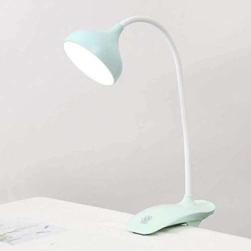 Clip op lamp LED bureaulamp boekenlamp verstelbare zwanenhals met USB-poort beschermoog voor thuis, op kantoor, computer verlichting traditioneel metaal bureau tas tafellamp