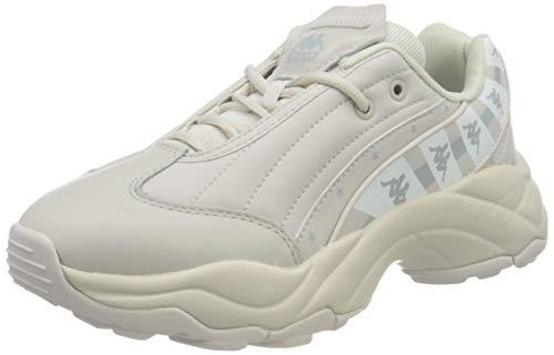 Kappa Authentic K0925, Zapatillas Deportivas Para Mujer, Beige/Blanco, 39 Eu