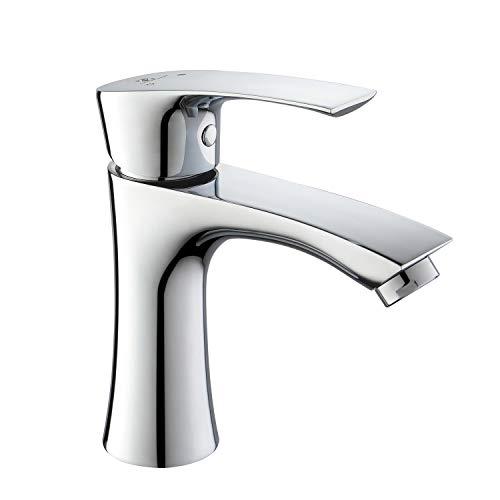 Homelody Grifo Lavabo Anti-ruido para Baño Acabado Cromado con Aireador ABS Desmontable Ahorra el Agua