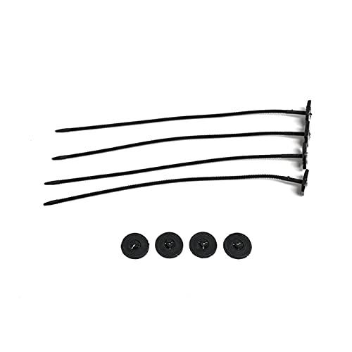 GeKLok Slim-line - Ventilador de radiador universal para automóvil, kit de montaje de ventilador de refrigeración eléctrica, ajuste a ventiladores universales y kit de coches, fácil de montar (Negro)