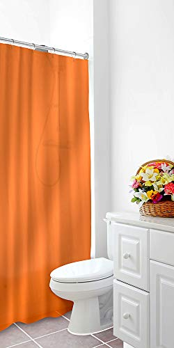 Home Expressions Heavy Duty Vinyl Magnetic Shower Curtain