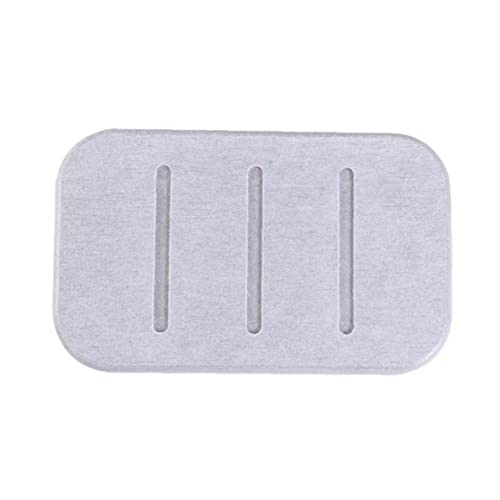 Non-slip Diatomite Soap Dish Soap Bar Holder Water Absorption Quick Dry Soap Saver for Bathroom Kitchen