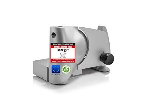 """Emerio Allesschneider\""""Made in EU\"""" MS-125001, Edelstahl Universal-Messereinheit in Deutschland produziert, einstellbar 0-15mm, BPA frei, Metallgehäuse, mit Sicherheitsschalter, Eco 110 Watt"""