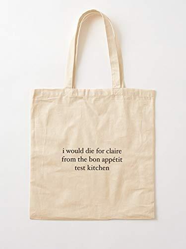 deadw App?tit Iwdfcftbatk Claire Saffitz Bon Kitchen App Test Appetit Canvas Tote Umhängetasche Stylish Shopping Casual Bag Faltbare Reisetasche