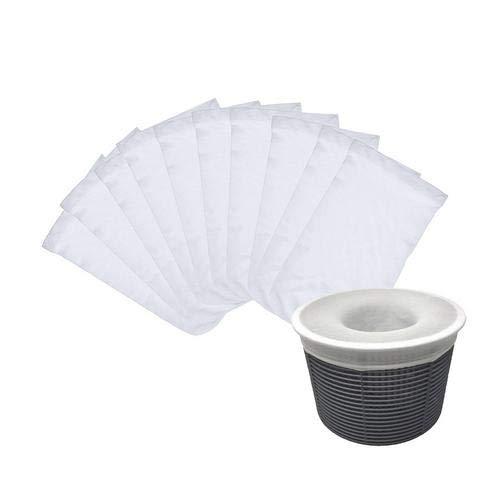 Lot de 5/10/20 chaussettes pour épuisette de piscine - Filet pour filtre de piscine - Filet en nylon - Filetage ultra fin pour panier de piscine (paniers non inclus) - 10 pièces
