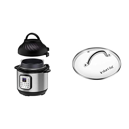 pressure cooker roasts Instant Pot Duo Crisp Pressure Cooker 11 in 1, 8 Qt with Air Fryer, Roast, Bake, Dehydrate and more & Genuine Instant Pot Tempered Glass lid, Clear 10 Inch (26 cm) 8 Quart