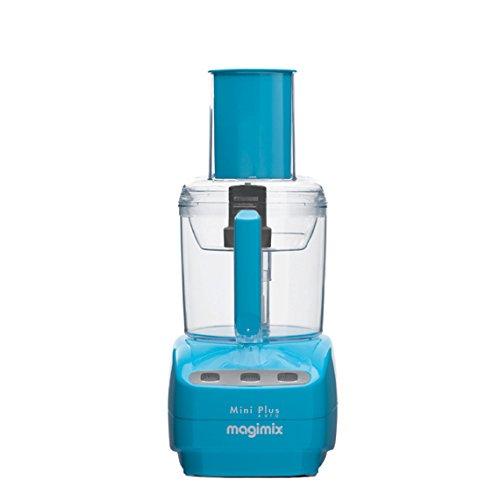 Magimix Mini Plus - Robot de cocina (1,7 L, Azul, Botones, 1 m, Francia, Acero inoxidable)
