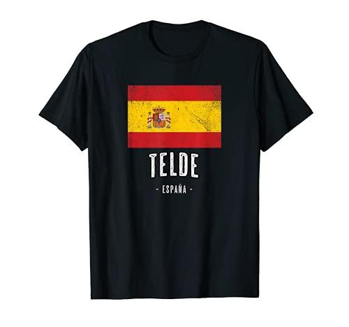 Telde España   Souvenir Linda Ciudad - Bandera Española -