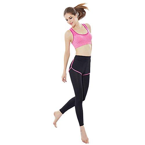 BOZEVON Femmes Costume de Sport 2pc Ensembles Soutien-Gorge + Leggings Élasticité Fitness Yoga Courir Sportswear, Style-C-1/S
