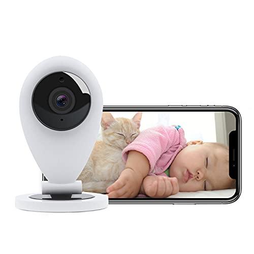 HiKam S5 WLAN IP Kamera, Überwachungskamera Innen mit App und Alexa, WiFi Babyphone, Bewegungsmelder, Nachtsich, Support in Deutschland (2021 Neue Gen, weiß)