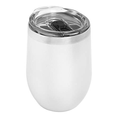 VASO TÉRMICO STEMLESS WINE PLATA acero inoxidable, marca ICE SHAKER, mantiene tu bebida por más tiempo a la temperatura que deseas.