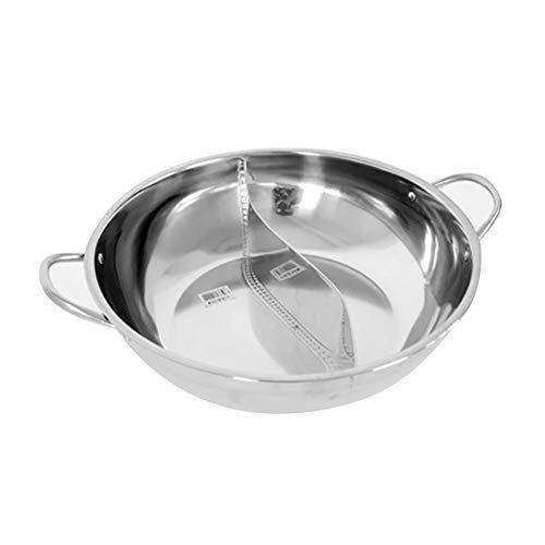 Demarkt roestvrijstalen pan, multifunctionele Hot Pot met grote inhoud, roestvrij staal, multifunctionele hete pan