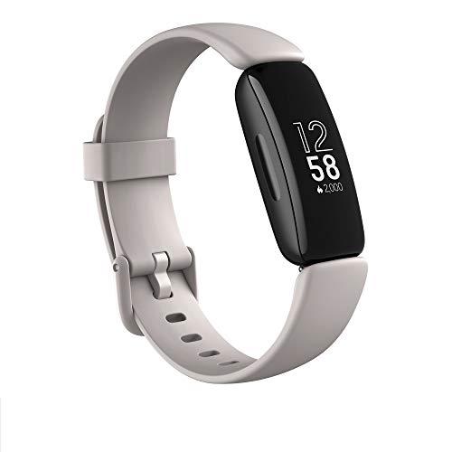 Fitbit Inspire 2 - Pulsera de salud y actividad física con ritmo cardiaco continuo, 1 año del servicio Fitbit Premium incluido y 10 días de batería, Blanco Marfil