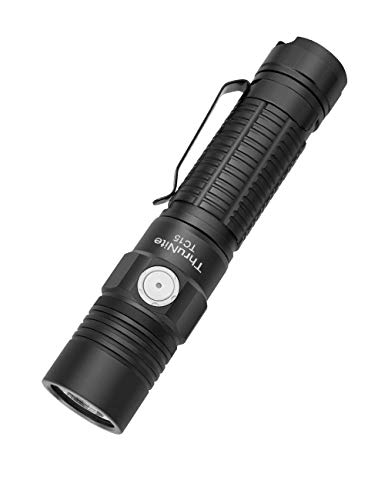 ThruNite TC15 2300 High Lumens Ultra-Bright Flashlight, USB Rechargeable LED Handheld Flashlights, CREE XHP 35 LED, Indoor/Outdoor (Camping, Security and Emergency Use) Neutral White - Black NW