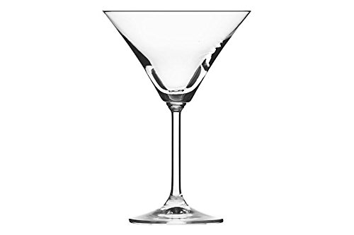 Dkristal Copa de Martini, Cristal, 11x11x17 cm, 6 Unidades