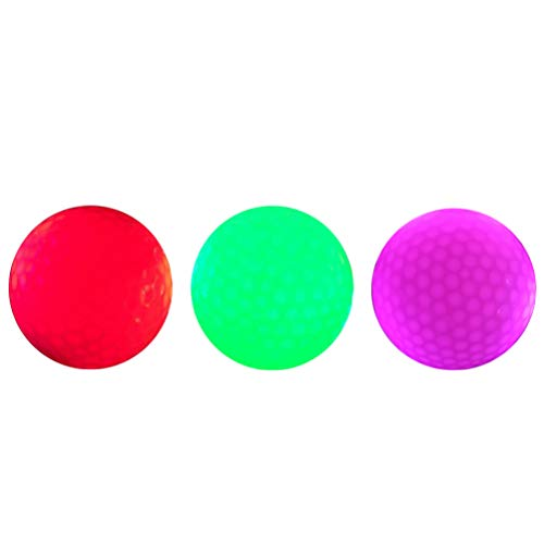 BESPORTBLE LED leuchtende Golfbälle langlebig im Dunkeln leuchten Wiederverwendbare helle Nacht Golfball Runde Bolus für Party KTV Club