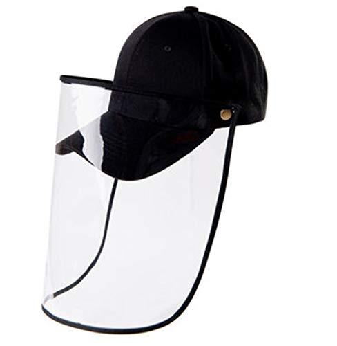 Hat Baseballcaps Anti-Spray Sonnenschutz transparent Gesichtsabdeckung for Männer und Frauen (Color : Black, Size : 50cm-60cm)