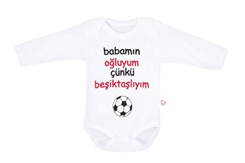 Minisse Besiktas Baby Body Fanatik Bebek Taraftar Tulum Größe 56 62 68 74 KARTAL BJK NEU (56)