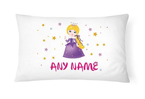 PGM - Federa per cuscino personalizzabile, motivo: principessa