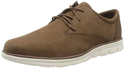 Timberland Bradstreet Plain Toe Oxford, Zapatillas Bajas Hombre, Marrón Light Brown Nubuck, 47.5 EU