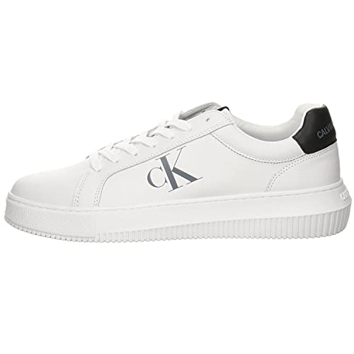 Calvin Klein Jeans Chunky Cupsole Lace Up Mens White Trainers-UK 8 / EU 42