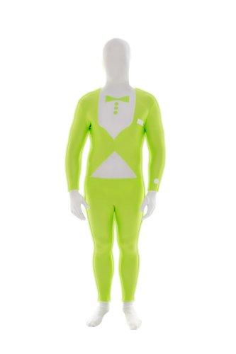 Morphsuit - Costume Intero Aderente, Stile Smoking, Colore: Verde, Taglia: XXL