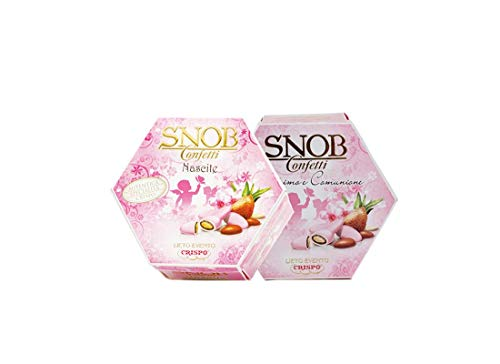 Confetti Snob Lieto Evento 1 Kg (2 conf) incartati singolarmente (Rosa)