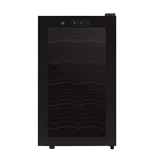 Refrigerador De Vino - Refrigerador De Vino Pequeño, Enfriador De 18 Botellas, Táctil, 39 Db En Funcionamiento, Puerta De Vidrio,...