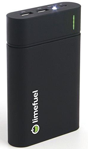 USB External Battery Pack 6000mAh 5V/1.8A (Black Limefuel Blast L60X) Charger with Flashlight for iPad Air, Mini, iPhone 5S, 5C, 5, 4S, Galaxy S5, S4, S3, Note 3, Nexus 4, 5, 7, 10, HTC One, One 2 (M8), Motorola Droid, LG G2, G3, MOTO X, G, E