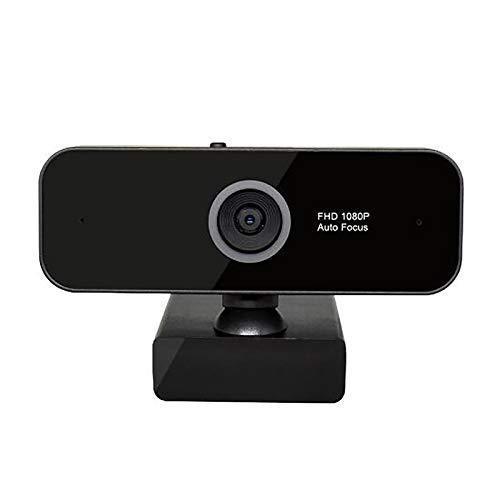 Webcam 1080P Full HD USB, cámara web con micrófono FHD, con USB 2.0, 3.0, para videollamadas y grabaciones, estudios, conferencias web (negro)
