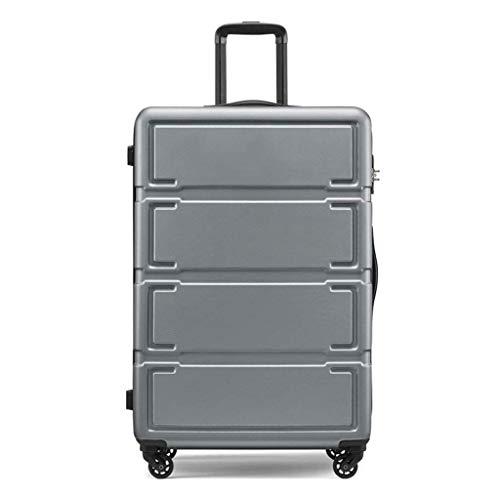Lcxliga Maleta de Viaje de Alta Capacidad, Tipo Unisex Maleta Universal con Ruedas Maleta-Silencioso-24 Pulgadas (Color : Silver)