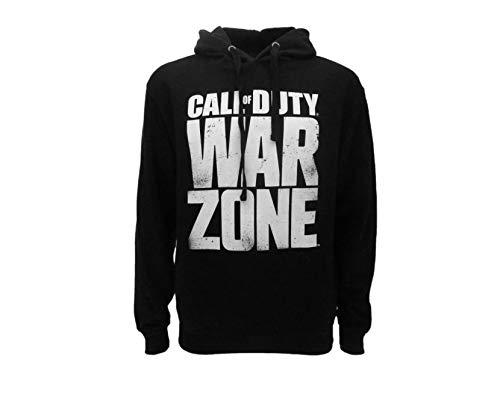 Sudadera Call of Duty Warzone con logotipo original WZ Oficial Negra Adulto y Niño con Capucha y Bolsillo Frontal Negro XXL