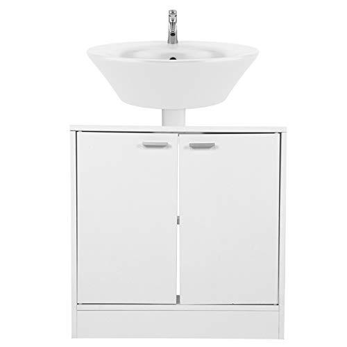 Haofy Armario bajo Lavabo para baño, Armario de Almacenamiento para baño con Puerta Doble, Armario, Organizador de Estante para Lavabo de baño, 59,8x30,7x59,3 cm