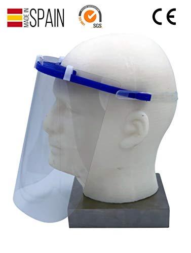 ① PROTECCIÓN COMPLETA: La Mascara facial MCI ofrece una protección completa del rostro, ojos, nariz y boca, comportándose como un escudo contra salpicaduras, polvo, polen, contaminación y partículas a baja velocidad. Cumplimento la normativa UNE de ...