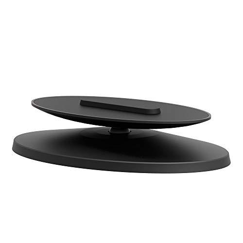 Haude Utilizado para Amazon Echo Show 5 Soporte Ángulo de 360 grados Base Ajustable Marco Smart Home Accesorios-Negro