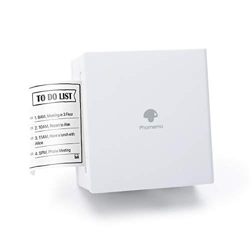 Phomemo Taschendrucker Mini Fotodrucker Bluetooth Handy Drucker Mobiler Thermoaufkleber Drucker, kompatibel mit Smartphone und Tablet, für Lernassistenten, Bullet Journal, Aufgabenliste, Weiß