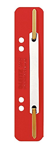 Leitz 3710-00-25 Heftstreifen und Aktenbinder PP 3.5 x 15.8 cm 25 Stück rot