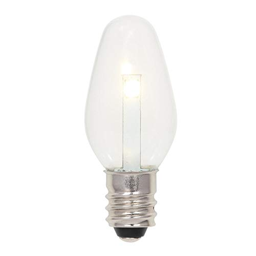 Westinghouse Lighting 5511000 0.5 (4 W equivalente) C7 transparente, base candelabro, 2 unidades de bombillas LED