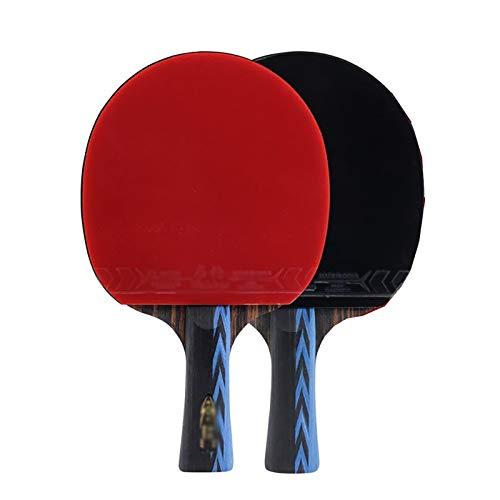 Palas de ping pong Actualizar la tabla de cuatro estrellas raqueta de tenis raqueta de doble Traje original de doble cara anti-cola de tiro horizontal Straight Shot Estudiante Tabla raqueta de tenis 2