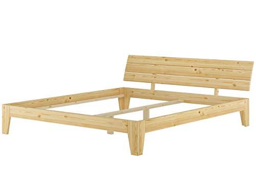 Erst-Holz® Futonbett Doppelbett 180x200 Massivholz-Bettgestell Kiefer Natur ohne Rollrost 60.62-18 oR