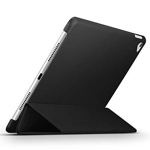 ESR Ultra Dünne Hülle Kompatibel mit iPad 2018 / iPad 2017 Modell 9,7 Zoll - Smart Case Cover mit Gummierter Rückseite Schutzhülle - Magnet mit Auto Sleep/Wake Funktion - Schwarz