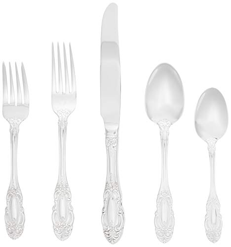 Wallace Dutchess 65-Piece Stainless Steel Flatware Set, Service for 12, Silver