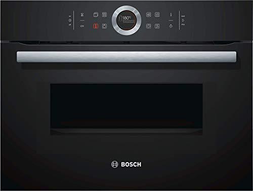 Bosch CMG633BB1 Serie 8 Einbau-Kompaktbackofen mit Mikrowellenfunktion / 900 W / 45 L / Schwart / Klapptür / TFT-Display / AutoPilot 14 / SoftClose / SoftOpen
