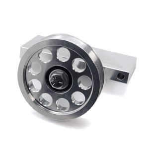 UPR Mustang Billet Competition Air Pump Idler Bracket with Pulley Eco ll