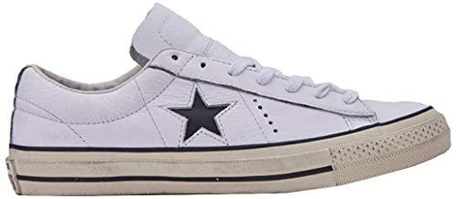 Converse Lifestyle One Star Distressed Ox, Scarpe da Ginnastica Basse Uomo, Bianco (White/Black/Egret 102), 39 EU