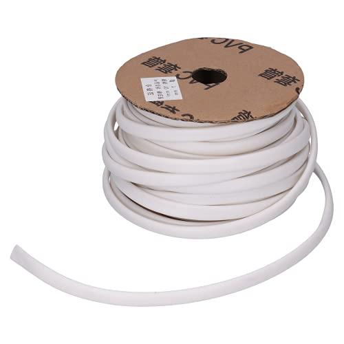 Tubo marcador de alambre de PVC, cable blanco flexible y rígido de...