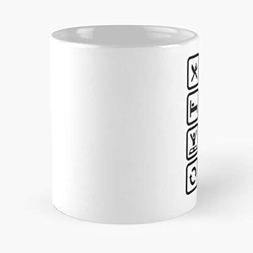 Eat Sleep EDM Repeat – Taza de café de cerámica de mármol blanco